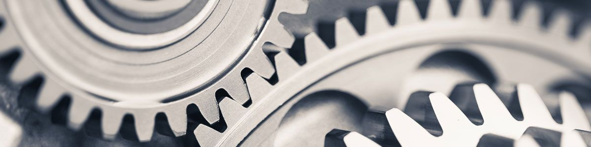 Metal cogs in machinery